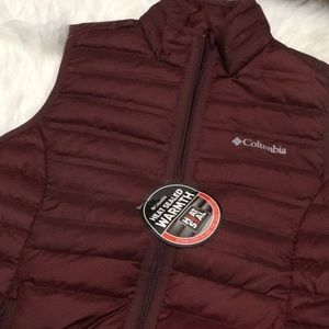 BNWT WOMEN'S COLUMBIA  DOWN FILLED VEST HEAT SEAL